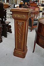 Antique French gilt metal mounted pedestal of
