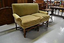 Antique French 18th century two seater settee,