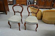 Two balloon back chairs