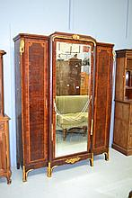 Antique French Parquetry armoire, with inlay and