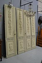 Set of four antique French 19th century painted