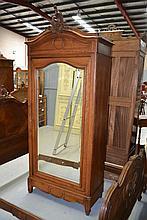 Antique French Louis XV style walnut single door