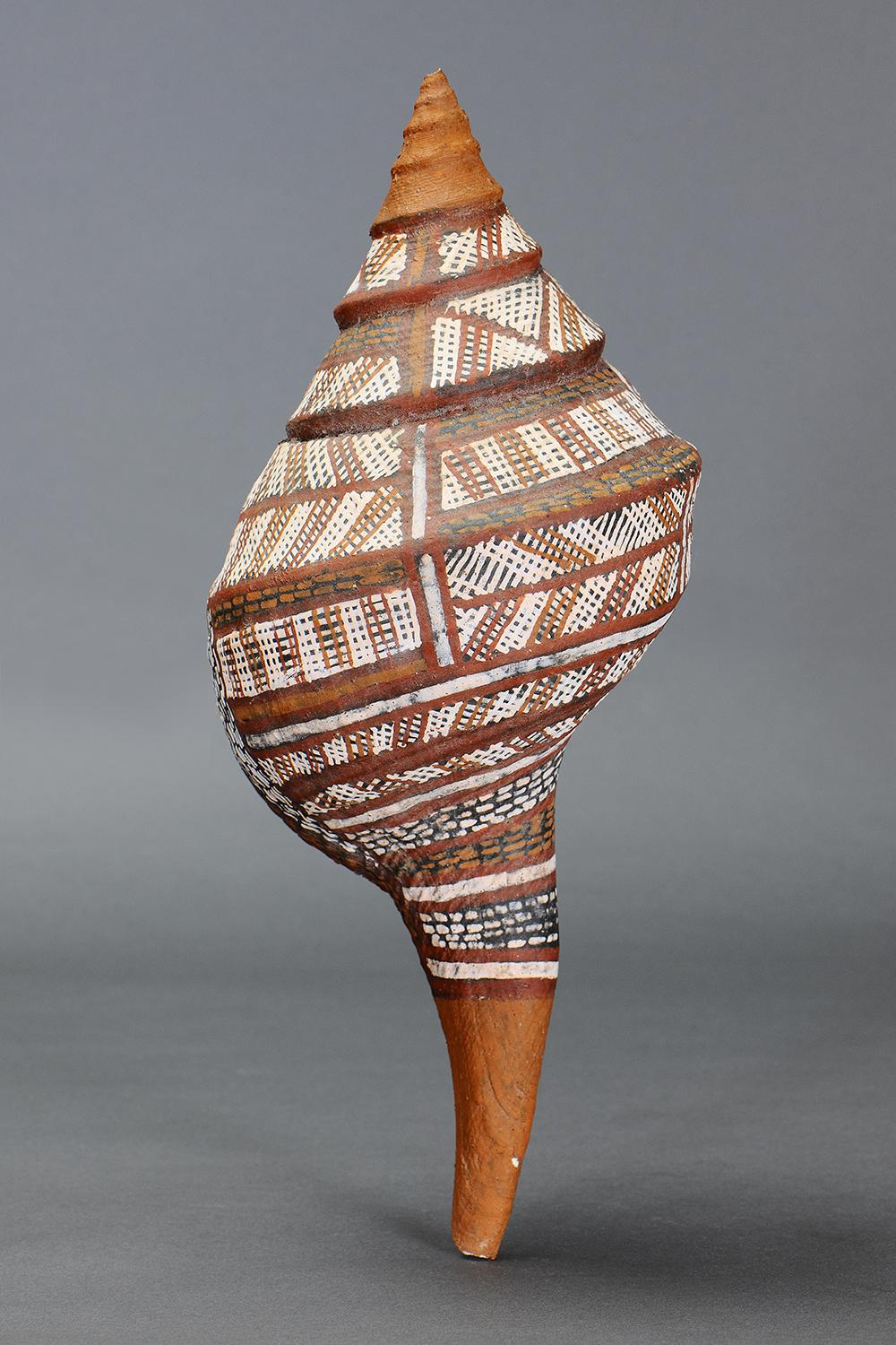 SUPERB LARGE PAINTED TRUMPET SHELL, GROOTE EYLANDT, NORTHERN TERRITORY