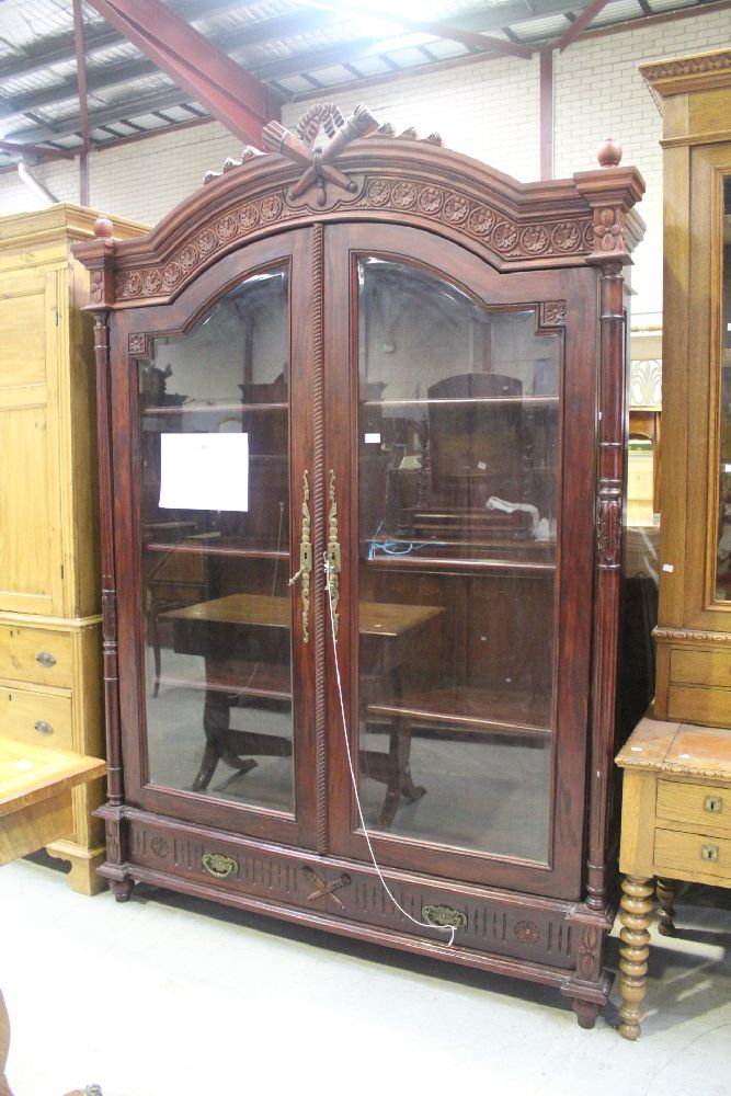 Large French Antique Style Display Cabinet Approx 231cm H