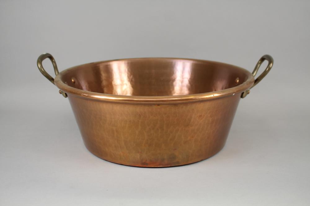 French Copper Twin Handled Jam Pan Approx 42cm Dia
