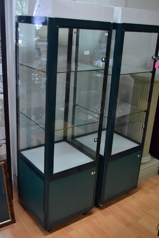 Pair Of Commercial Shop Display Cabinets 2 Each Approx 170