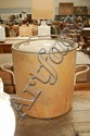 Large antique French copper pot with lid
