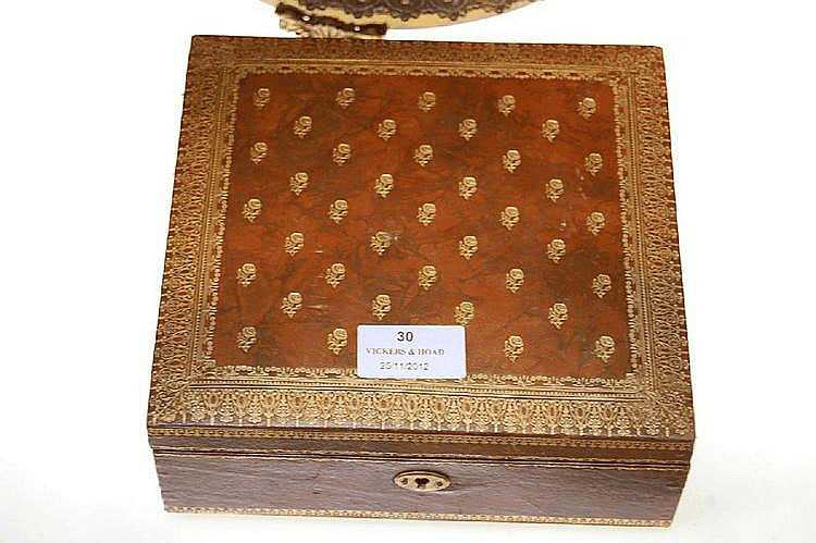 Small French leather box