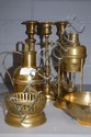 Assortment of French copper items