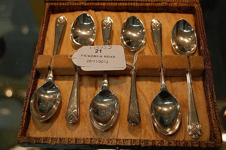 Set of Sterling silver Golf spoons, Sheffield