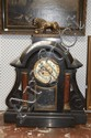 Impressive and large antique French marble clock,