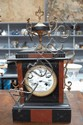 French black and red slate clock