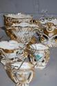 Six antique porcelain marriage vases. 12cm -6 cm.