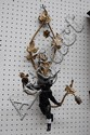 French early 20th century, figural wall light,