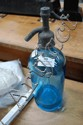 Vintage French blue glass siphon