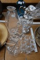 Collection of glass, to include claret jug,