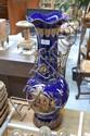 Large blue ground and gilt vase