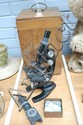 Boxed Nachet Japanned microscope