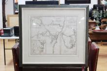 Rare Chart / Map of New South Wales (Van Diemen's Land) & Survey in the Interior of New South Wales, also showing the British Settlements at Port Jackson, J, Aspin, Hewitt Buckingham Place, approx 52cm x 62cm (Excellent condition, framed and glazed) See another example National Library of Australia