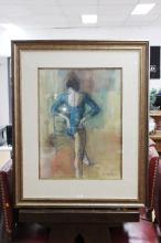 William Boissevain (1927-.) Australia, Ballerina, blue leotard, signed lower right, approx 70cm x 52cm
