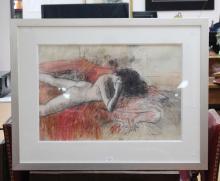 William Boissevain (1927-.) Australia, Nude, signed lower right, approx  50cm x 73cm