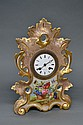 Antique French porcelain clock, Marshall & Fils a