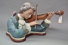 Lladro Violinist, signed J Ruize Vincente