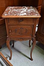 Antique French Louis XV style marble topped