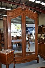 Antique French Louis XV style two door armoire,