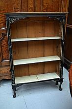 Distressed dwarf open book case, approx 127cm H x