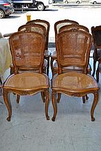 Set of Six French Louis XV style chairs, with