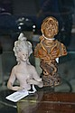 Antique European porcelain half doll along with a