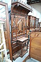 Impressive antique French carved walnut Gothic