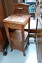 Fine antique French marble topped nightstand