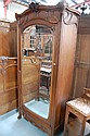 Fine antique French Art Nouveau walnut single door