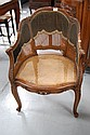 Fine antique French Louis XV caned arm chair