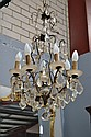 Vintage French eight light chandelier