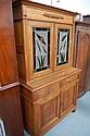 Two height Oak Edwardian bookcase