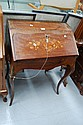 Vintage French walnut Louis XV floral marquetry