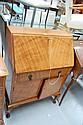 Vintage walnut Queen Anne style bureau
