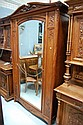 Fine antique French Art Nouveau carved walnut