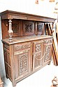 Antique French renaissance style carved oak