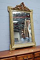 Antique French gilt surround mirror, 150 cm H