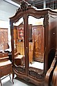Fine antique French Louis XV style carved walnut