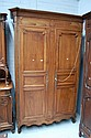 Antique mid 19th century Louis XV walnut armoire