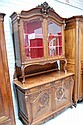 Fine antique French carved walnut two height