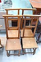 Set of four antique 19th century French beech