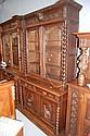 Antique French Henri II bookcase buffet, 240 cm H