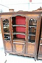 Antique French walnut Louis XV style bookcase, 170
