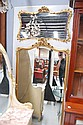 Fine antique French Louis XV pier mirror, 254 cm x
